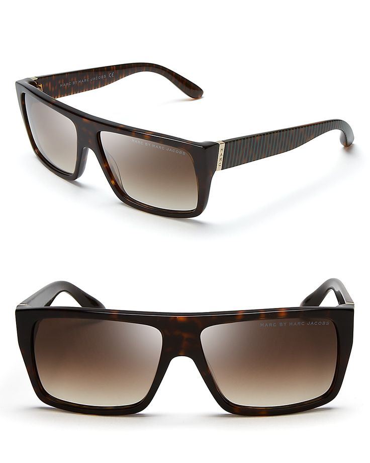 MARC BY MARC JACOBS Striped Temple Wayfarer Sunglasses |