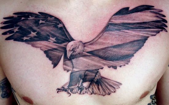 Germans had two headed eagle as their emblem and the American influence is also visible on the contemporary interpretations of eagle tattoos. Description from 2tattoodesigns.com. I searched for this on bing.com/images