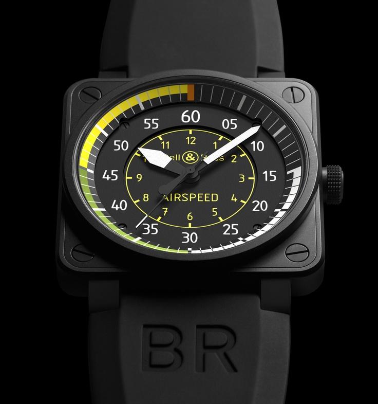 BR01 Airspeed relógio por Bell & Ross