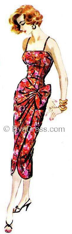1957 Side-Tie Dress Multi-size EvaDress Pattern