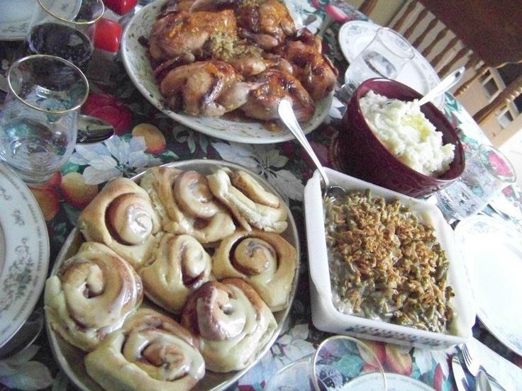 With Mashed Potatoes Green Bean Casserole And Cinnamon Rolls Great Easter Dinner But I Think Am Going To Add The Cornish Hens Our Wedding Catering