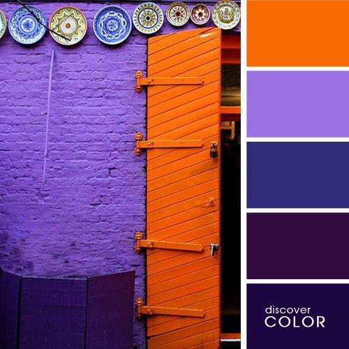 Оранжевая дверь   DiscoverColor.ru