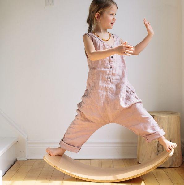 Kinderfeets | Wooden Wobble Kinderboard White | Entropy