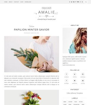 Amalie Blogger Template. free professional blogger template Responsive SEO Ready fashion Photography portfolio designs