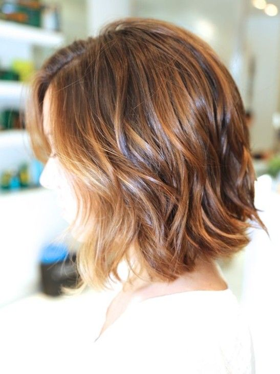 Ombre Bob Haircut: Wavy Hairstyles for Short Hair 2015 - Coiffure carré cheveux courts