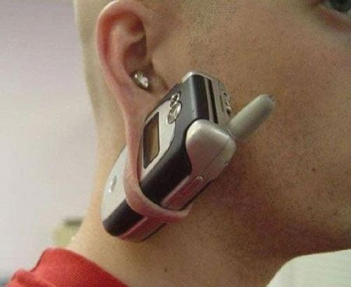 Now why didn't I think of this?  What a handy built-in cell phone carrier!: Funnies Pictures, Ears Gauges, Woodworking Planes, Funnies Wallpapers, Hearing Aid, Carpenter Planes, Body Modifications, Funnies Images, Cell Phones Holders