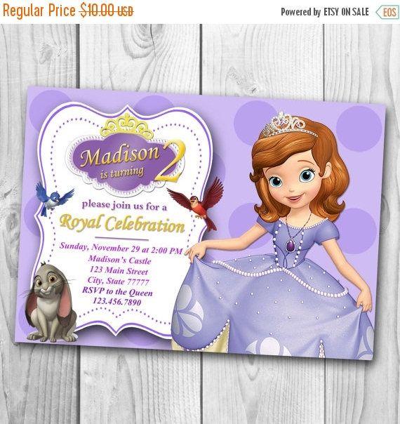 Sofia de eerste uitnodiging  Prinses Sofia verjaarspartijtje