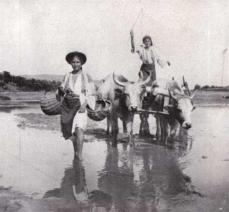 Femei traversand un vad, 1921