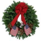 24 in. Balsam Fir Let Freedom Ring Wreath: Multiple Ship Weeks Available