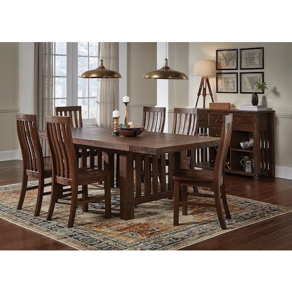 The Relaxed Yet Refined Everett Dining Collection Is The Perfect Addition To Any Casual Contemporary Dining Upholstered Dining Table Furniture Levin Furniture