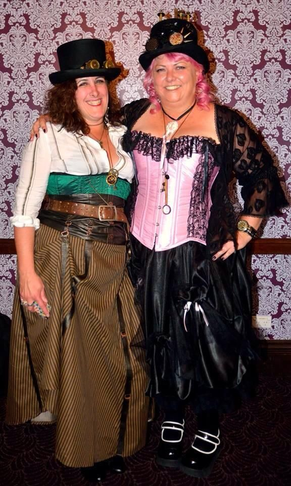 """GS customer Rowen had this to say,""""Thanks to gallery serpentine for the custom made outfit. The Duchess Rowena celebrated her 40th birthday in style!"""" Custom made Pink & black La Viola corset & lengthened Alice Manson skirt http://www.galleryserpentine.com/index.php/womens-wear/corsets.html"""