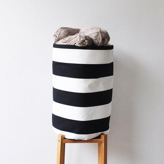 Large Nursery Basket Organizer, Black And White Fabric Basket, Toy Storage  Basket, Laundry Hamper, Storage Bin   LoveJoyCreate Etsy