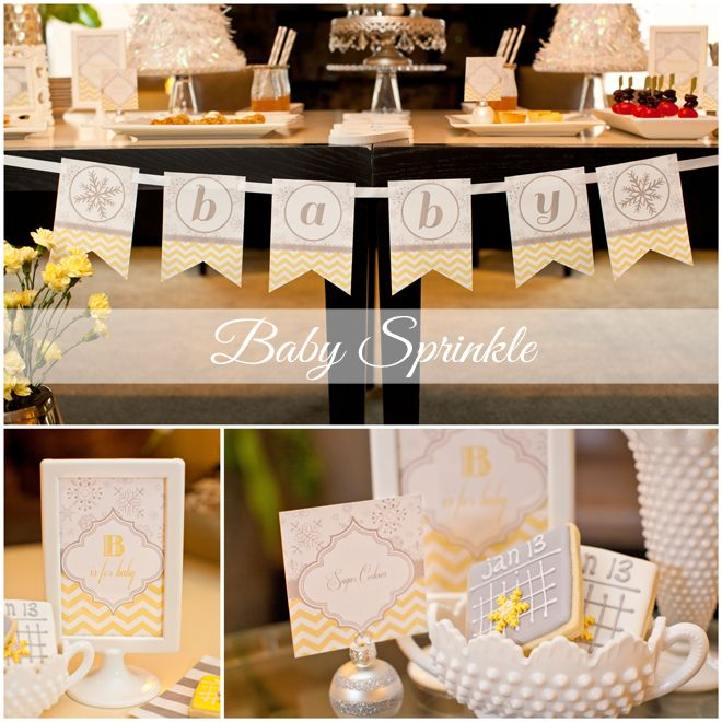 """Throw a baby SPRINKLE to celebrate mom-to-be! What's a sprinkle, you ask?  It's a shower for a Mom not having her first child. It's a way to still celebrate the new baby with a """"sprinking"""" instead of a full on """"shower"""" since Mom already has many of the items needed for a new baby."""