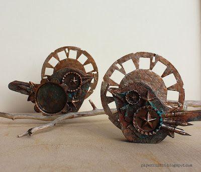 Riikka Kovasin - Paperiliitin: Sacred Rust Birds - Craft Stamper