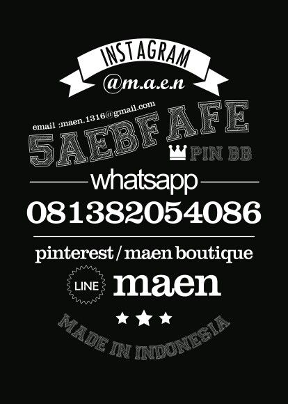 Contact #design #maen #vintagetypo