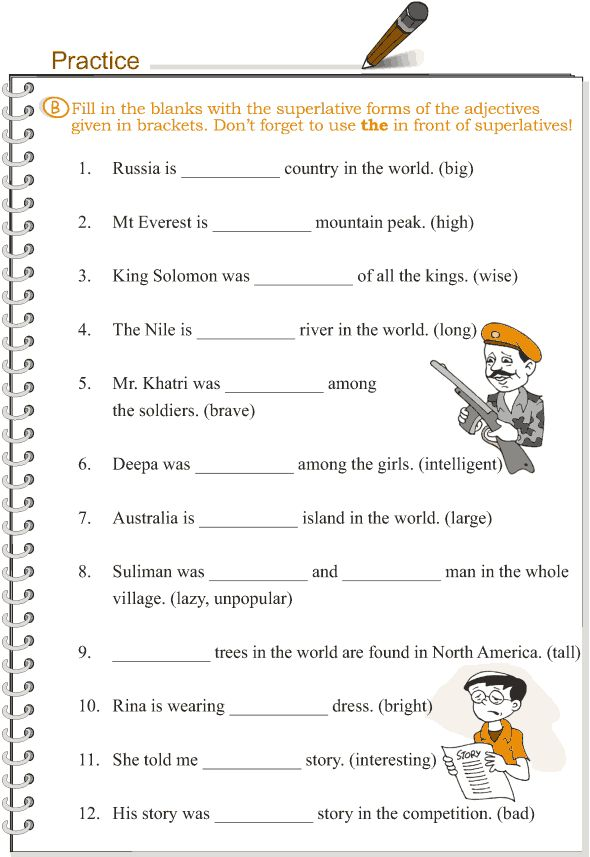 English Worksheets For Grade 3 : Grade grammar lesson adjectives comparison english