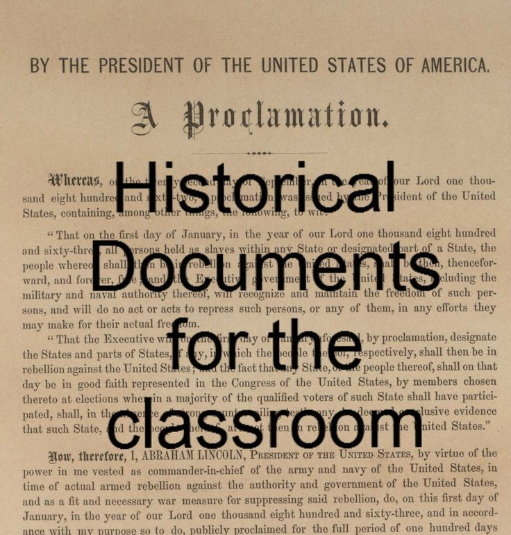 Important Historical Documents - constitutioncenter.org View information and full text from important historical documents such as the Articles of Confederation, Bill of Rights, Emancipation Proclamation, Declaration of Independence and many more.