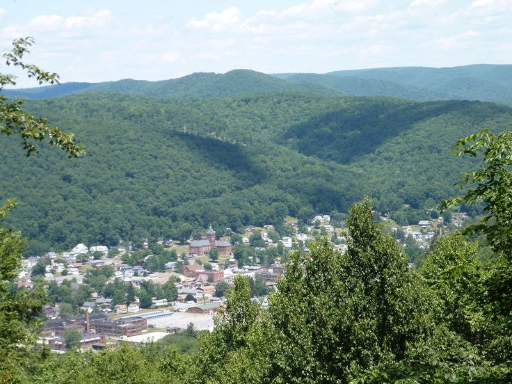 Overlooking Emporium, Pennsylvania in Cameron County. My x lives here