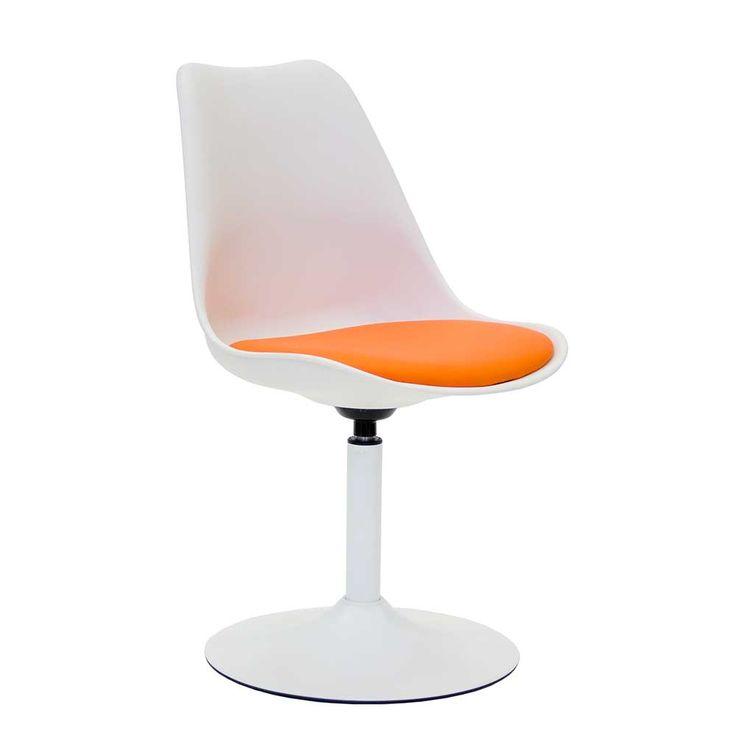 Schalenstuhl in Weiß Orange drehbar Jetzt bestellen unter: https://moebel.ladendirekt.de/kueche-und-esszimmer/stuehle-und-hocker/esszimmerstuehle/?uid=ed90799f-6d00-52fe-9d4d-8753aa1607a7&utm_source=pinterest&utm_medium=pin&utm_campaign=boards #kueche #stuhl #design #esszimmerstuehle #designer #esszimmer #hocker #designerstuhl #stuehle