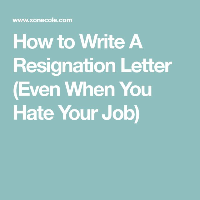 Best 25+ Resignation letter ideas on Pinterest Letter for - 2 week resignation letter
