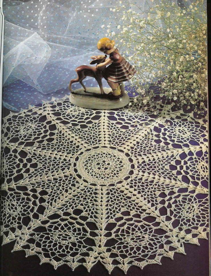 367 besten Crochet Doilies Bilder auf Pinterest | Häkeln, Tische und ...