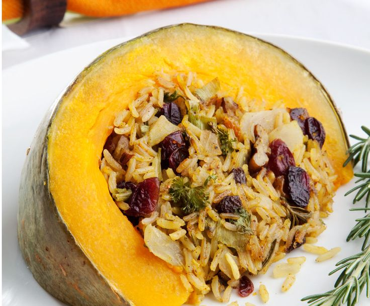 Rice stuffed baked pumpkin 6–8 servings http://tastic-redpot.co.za/feature-recipes/97-rice-stuffed-baked-pumpkin.html