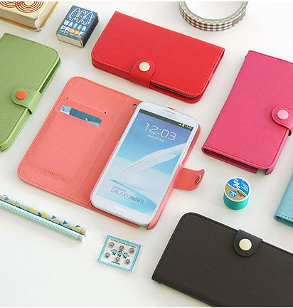 Button Galaxy Note 2 Case