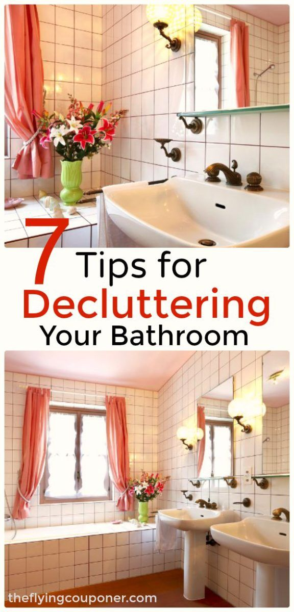 7 Effective and Simple Tips for Decluttering Your Bathroom. DIY Bathroom Organization Ideas.The Flying Couponer.