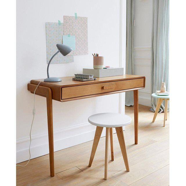 Bureau console vintage colas la redoute interieurs bois for Bureau quilda