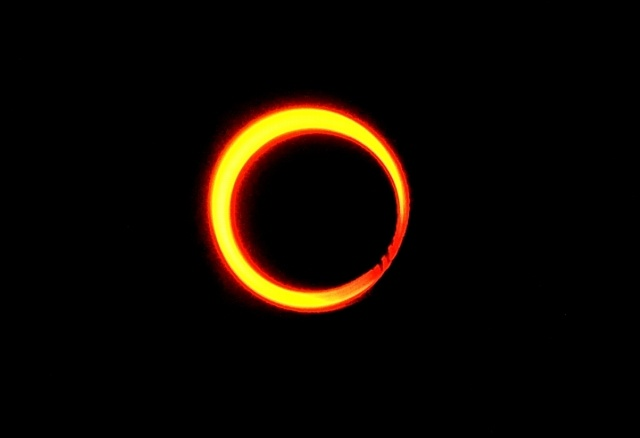 Annular eclipse was visible in Kyoto  京都で見えた金環食