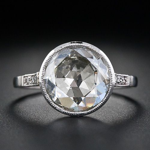 100 year old, 2 carat , rose cut diamond ring... LOVE!!