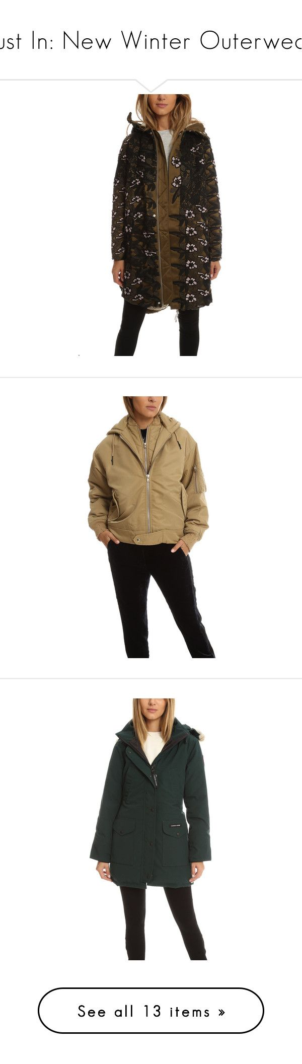 Just In: New Winter Outerwear by blueandcream on Polyvore featuring women's fashion, outerwear, jackets, women, utility jacket, brown utility jacket, brown parka, brown jacket, parka jacket and collar jacket