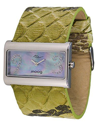 Moog Paris-Wild Origin Damen-Armbanduhr Zifferblatt Perlmutt grün Armband Grün Leder Rindleder, hergestellt in Frankreich-m41636F-003 - http://uhr.haus/moog-paris/moog-paris-wild-origin-damen-armbanduhr-perlmutt-3