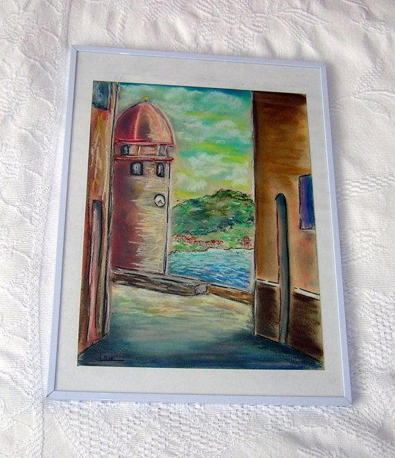 Drawing with pastels South of France Drawing of catalan by Syell