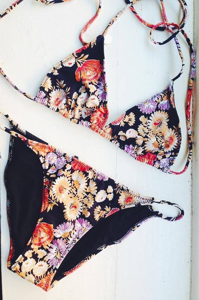 I love the floral and the triangle bikini