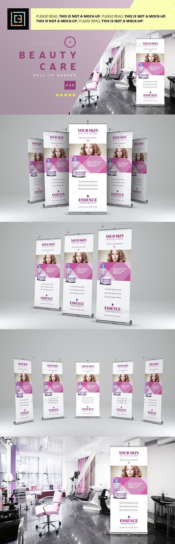 Beauty Care - Roll-Up Banner Template PSD. Download here: https://graphicriver.net/item/beauty-care-rollup-banner-2/17360415?ref=ksioks