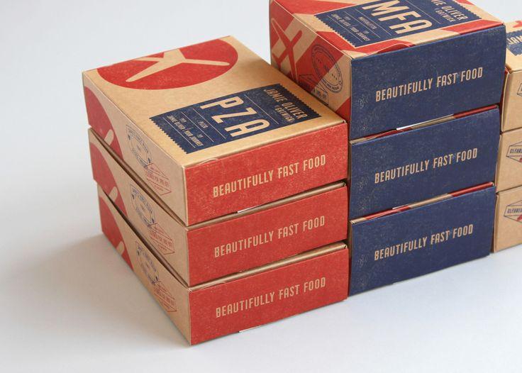 В лондонской дизайнерской студии The Plant разработали дизайн комплекта упаковки дляеды навынос бренда Jamie Oliver at Gatwick. Gatwick— этоаэропорт, аJamie Oliver— сеть ресторанов, поэтому целью разработки упаковки было создание совершенно новой идентичности, основанной нарадости полетов ипутешествий. Упаковка состоит изчетырех предметов, каждый сосвоим названием ввиде аббревиатуры: PZA— коробка дляпиццы MFA— Muffelata (stuffed foccacia), переводчик Гугла дает такой перевод…