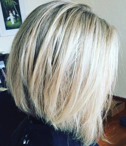4 Blonde Blond Straight Hair Sweep Blonde Balayage: 70 Best A-Line Bob Hairstyles Screaming With Class And