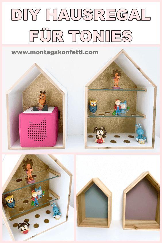 DIY Hausregal zur Aufbewahrung von Tonies – Montagskonfetti – Kinder DIYs