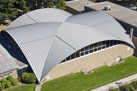 Curved Standing Seam Metal Roof Low Slope Standing Seam
