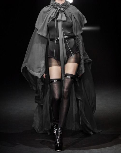"""130186:  John Galliano Fall 2012  i literally just said """"holy shit"""" out loud this is what the huntress would wear when she rescues little red riding hood from the belly of the wolf"""