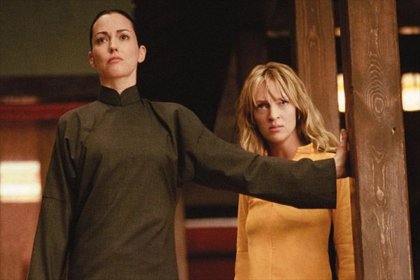 """Julie Dreyfus (Sofie Fatale) and Uma Thurman (Beatrix Kiddo), from the """"Kill Bill"""" films Sofie is the antagonist here"""