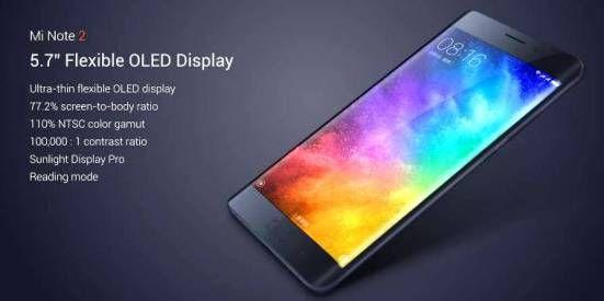 Spesifikasi Smartphone Xiaomi Mi Note 2