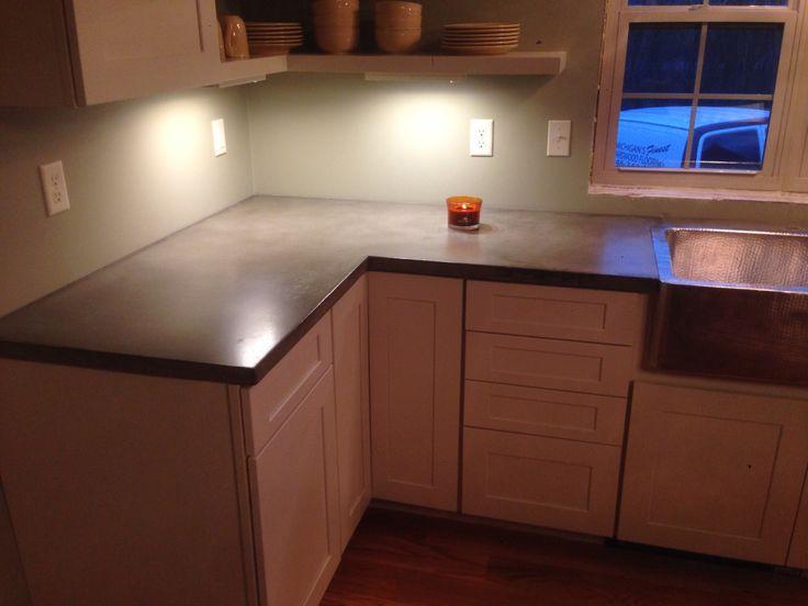 Concrete counter tops