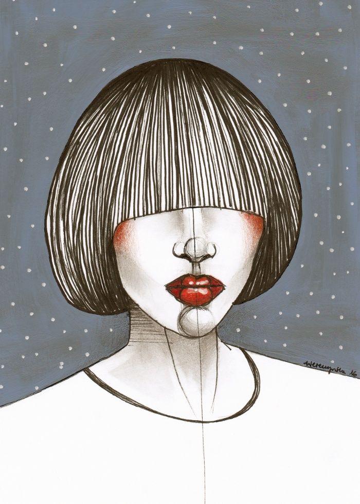 Star Girl Art Print by Agata Wereszczyńska | Society6