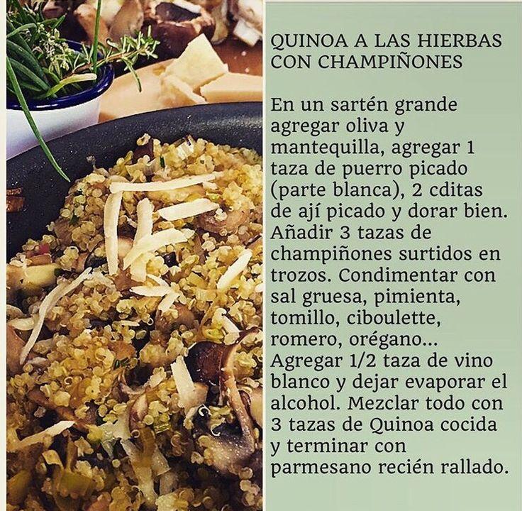 Quinoa a las hierbas con champiñones VIRGINIA DEMARIAS