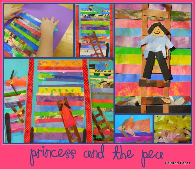 """mattresses of """"The Princess and the Pea"""" (from the art blog """"Painted Paper"""")"""