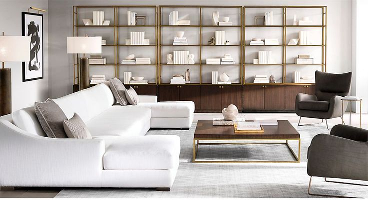 rooms rh modern like the look of the deep long couch. Black Bedroom Furniture Sets. Home Design Ideas