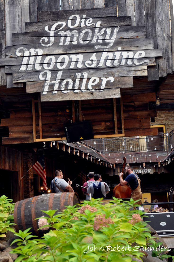 Ole Smoky Moonshine Holler in Gatlinburg - This place is such a fun area to listen to music!