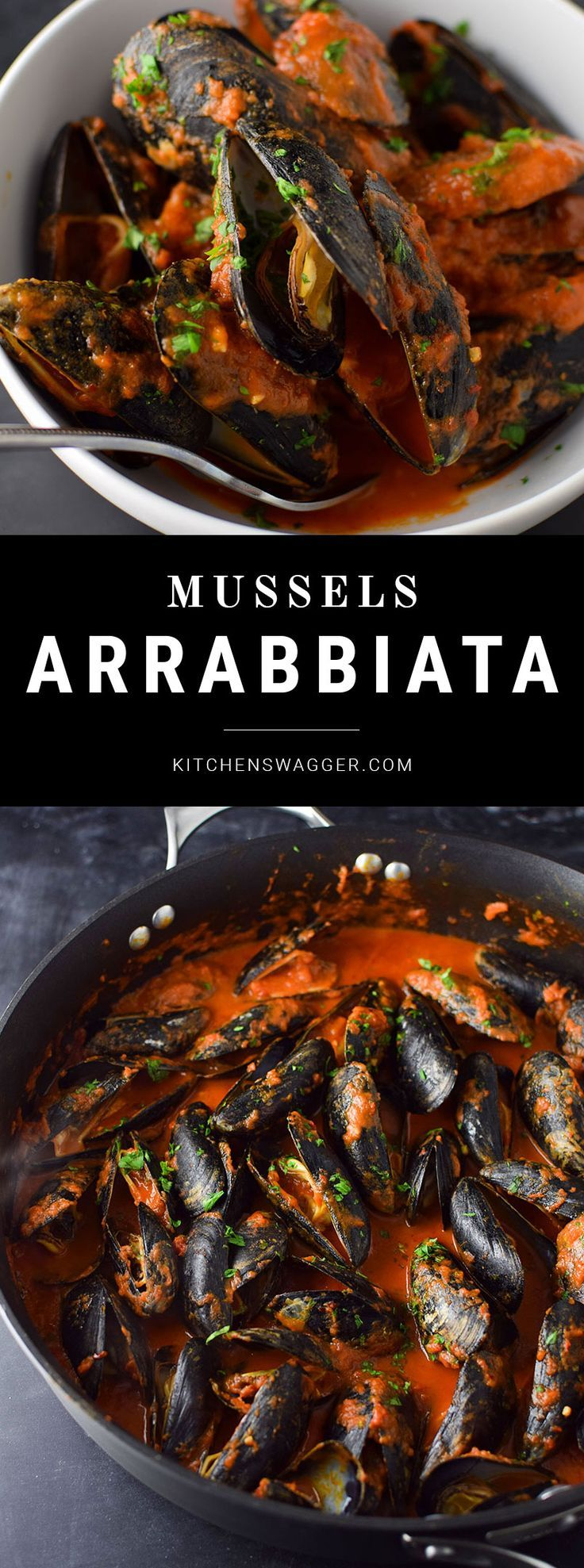 Simple mussels recipe in spicy red sauce.